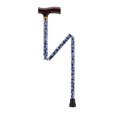 Lightweight Adjustable Blue Daisy Folding Cane with T Handle - 10304bd-1
