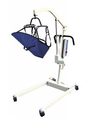 Bariatric Electric Patient Lift with Removable Rechargeable Battery and Four Point Cradle - 13245