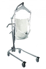 Chrome Hydraulic Patient Lift with Six Point Cradle - 13023