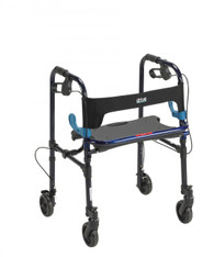 "Clever Lite Flame Blue Rollator Walker with 5"" Casters - 10230"