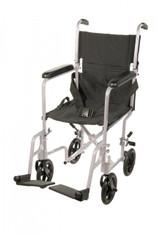Lightweight Silver Transport Wheelchair - atc19-sl