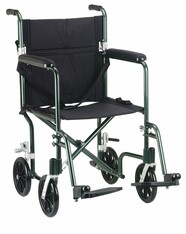 "19"" Flyweight Lightweight Green Transport Wheelchair - fw19gr"