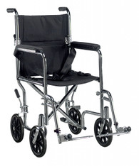 Go Cart Light Weight Steel Transport Wheelchair with Swing Away Footrest - tr17