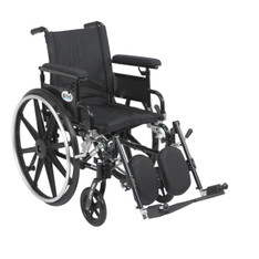 Viper Plus GT Wheelchair with Flip Back Removable Adjustable Full Arm and Elevating Leg Rest - pla416fbfaarad-elr