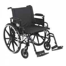 Viper Plus GT Wheelchair with Flip Back Removable Adjustable Desk Arm and Swing Away Footrest - pla422fbdaar-sf
