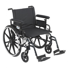 Viper Plus GT Wheelchair with Flip Back Removable Adjustable Full Arm and Swing Away Footrest - pla422fbfaar-sf