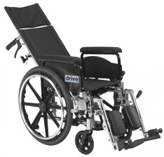 "Viper Plus GT 18"" Reclining Wheelchair with Full Arms - pla418rbdfa"