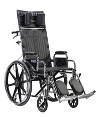 Sentra Reclining Wheelchair with Detachable Desk Arms - std16rbdda