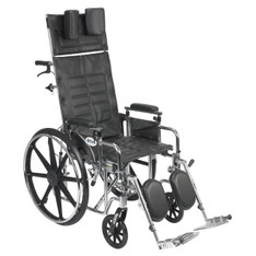 Sentra Reclining Wheelchair with Detachable Adjustable Desk Arms - std18rbadda