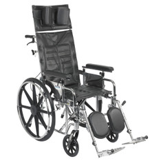 Sentra Reclining Wheelchair with Detachable Adjustable Full Arms - std18rbadfa