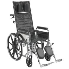 Sentra Reclining Wheelchair with Detachable Full Arms - std18rbdfa