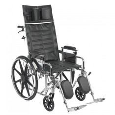 Sentra Reclining Wheelchair with Detachable Adjustable Desk Arms - std20rbadda