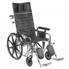 Sentra Reclining Wheelchair with Detachable Adjustable Full Arms - std20rbadfa