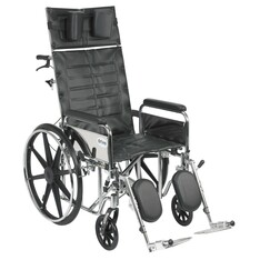 Sentra Reclining Wheelchair with Detachable Full Arms - std20rbdfa