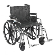 Sentra Extra Heavy Duty Wheelchair with Detachable Desk Arms and Swing Away Footrest - std22dda-sf
