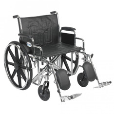 Sentra EC Heavy Duty Wheelchair with Detachable Desk Arms and Elevating Leg Rest - std24ecdda-elr