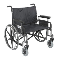 Sentra Heavy Duty Wheelchair with Detachable Full Arms - std28dfa