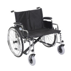 Sentra EC Heavy Duty Extra Wide Wheelchair with Detachable Desk Arms - std26ecdda