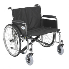 Sentra EC Heavy Duty Extra Wide Wheelchair with Detachable Full Arms - std26ecdfa