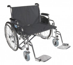 Sentra EC Heavy Duty Extra Wide Wheelchair with Detachable Desk Arms - std28ecdda