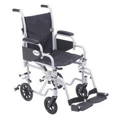 Poly Fly Light Weight Transport Chair Wheelchair with Swing away Footrest - tr16