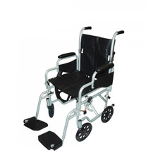 Poly Fly Light Weight Transport Chair Wheelchair with Swing away Footrest - tr20