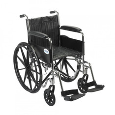 Chrome Sport Wheelchair with Full Arms and Swing Away Footrest - cs18fa-sf