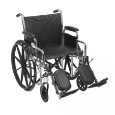 Chrome Sport Wheelchair with Detachable Desk Arms and Elevating Leg Rest - cs20dda-elr