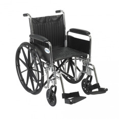 Chrome Sport Wheelchair with Detachable Full Arms and Swing Away Footrest - cs20dfa-sf