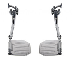 Chrome Swing Away Footrests with Aluminum Footplates - stdsf-tf