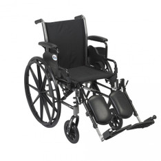 Cruiser III Light Weight Wheelchair with Flip Back Removable Desk Arms and Elevating Leg Rest - k318dda-elr