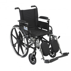 Viper Wheelchair with Flip Back Removable Adjustable Desk Arms and Elevating Leg Rest - l416adda-elr