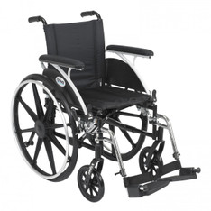 Viper Wheelchair with Flip Back Removable Full Arms and Swing Away Footrest - l416dfa-sf