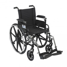 Viper Wheelchair with Flip Back Removable Adjustable Desk Arms and Swing Away Footrest - l418adda-sf