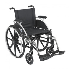 Viper Wheelchair with Flip Back Removable Desk Arms and Swing Away Footrest - l418dda-sf