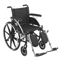 Viper Wheelchair with Flip Back Removable Full Arms and Elevating Leg Rest - l418dfa-elr