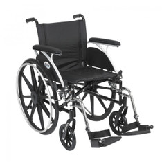 Viper Wheelchair with Flip Back Removable Full Arms and Swing Away Footrest - l418dfa-sf