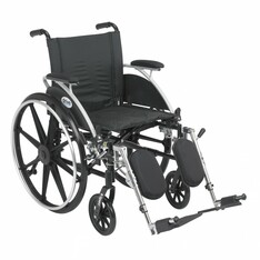 Viper Wheelchair with Flip Back Removable Desk Arms and Elevating Leg Rest - l420dda-elr