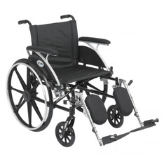 Viper Wheelchair with Flip Back Removable Full Arms and Elevating Leg Rest - l420dfa-elr