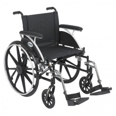 Viper Wheelchair with Flip Back Removable Full Arms and Swing Away Footrest - l420dfa-sf