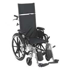 Viper Plus Light Weight Reclining Wheelchair with Elevating Leg rest and Flip Back Detachable Desk Arms - pl414rbdda
