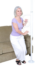 Security Pole & Curve Grab Bar-White