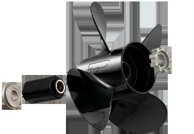 135 - 300+ HP 4.5 inch gearcase aluminum propeller