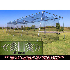 Cimarron #24 50x12x10 Batting Cage and Frame Corners
