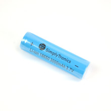 ST 18650 Li-ion battery, 3000mAh-3.7V