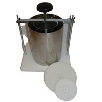Two &  Six Gallon Milk Capacity Cheese Press/Stainless Steel Hoops/Ladle/Skimmer/Knife/Spoons