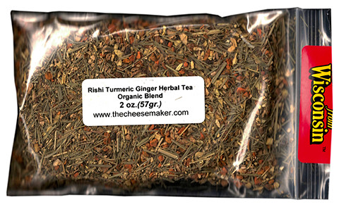 Rishi Turmeric Ginger Caffeine Free Herbal Blend Organic Tea