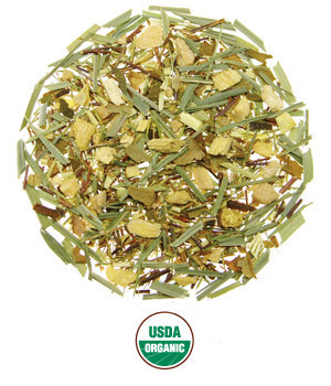 Ginger Lime Rooibos Caffeine-Free Herbal Blend Organic