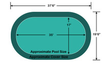 17' X 35' Loop-Loc II Super Mesh In-Ground Pool Safety Cover
