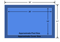 15' x 30' Rectangle Loop-Loc II Blue Super Mesh In-Ground Pool Safety Cover